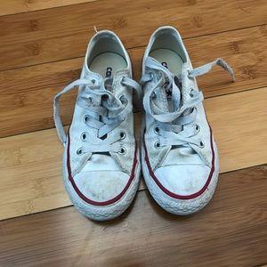 White Converse All Stars - Little Kids 12